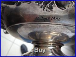 Paire De Coupes De Mariage 1901 Wilhem Binder Argent 800 Art Nouveau