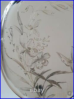 Pelle à servir en argent massif Art Nouveau minerve cuillère fleurs