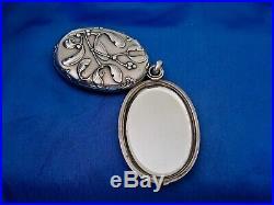 Pendentif miroir art nouveau gui argent double sanglier Murat 1897
