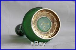 Petit vase Daum Nancy, monture argent, fin XIX ème, signé