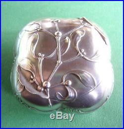 Petite Boite Gui Art Nouveau / Argent Massif (solid Silver)