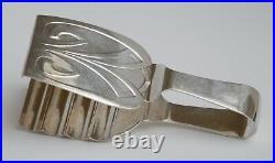 Pince à asperge Art Nouveau Jugendstil WMF Straußenpunsch um 1910 métal argenté