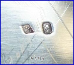 Plat Ovale Argent Massif Minerve Armoiries Orfevre Gaston Bardies