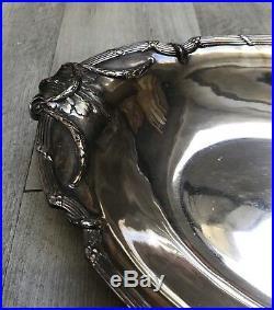 Plat de service en métal argenté CHRISTOFLE Modèle RUBAN XIXème