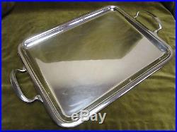 plateau rectangulaire th m tal argent ercuis silverplate tea tray art nouveau argent. Black Bedroom Furniture Sets. Home Design Ideas