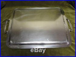 Plateau rectangulaire à thé métal argenté Ercuis silverplate Tea tray