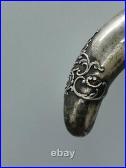 Pommeau de canne argent silver stick vers 1900 Art Nouveau