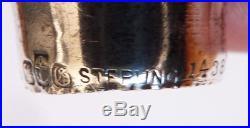 Pommeau manche de canne ART NOUVEAU argent couronne Baron silver stick