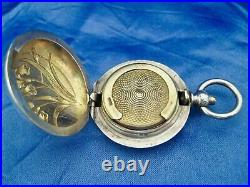 Porte louis art nouveau argent massif vermeil Quitte Prudent 1882
