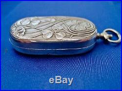 Porte louis d'or art nouveau argent 4 sangliers DEBAIN Alphonse 1883