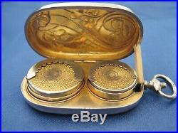Porte louis d'or art nouveau argent massif / vermeil DEBAIN Alphonse 1883