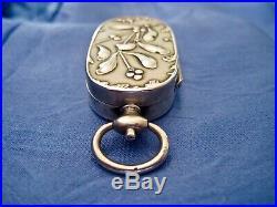 Porte louis d'or art nouveau gui argent Murat 1897