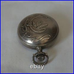 Porte louis en argent décor art nouveau #5106#