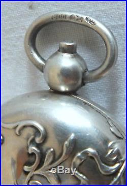 Porte louis pendentif argent massif art nouveau