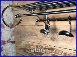 Porte manteaux / serviettes Rome Express style Art déco chromé Longueur 78 cm