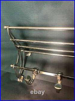 Porte manteaux / serviettes Transsibérien style Art déco chromé long 71 cm