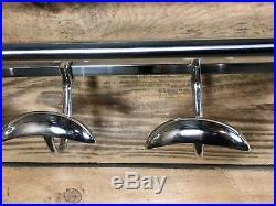 Porte manteaux / serviettes en chrome de style Art déco Longueur 78 cm