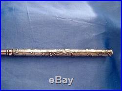 Porte plume art nouveau gui argent / vermeil Charles Murat 1889-1910