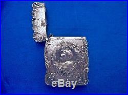 Pyrogène art nouveau argent double sanglier