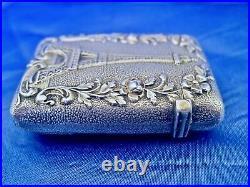 Pyrogène art nouveau argent massif vermeil Frontin (1888-1920)