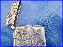 Pyrogène art nouveau argent vermeil Murat 1897