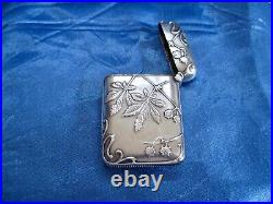 Pyrogène art nouveau argent vermeil Murat 1897 (2)