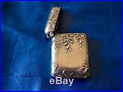 Pyrogène châtelaine argent art nouveau glycine Ch Murat 1897