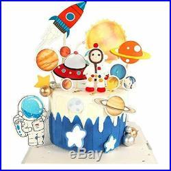 QIMMU Decoration Gâteau Astronaute, Astronaute Étoile Décoration, Decoration Ga