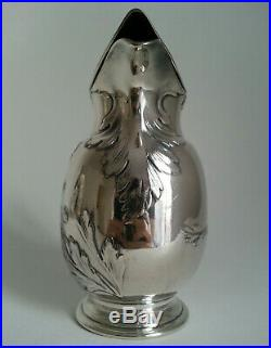RARE MAGNIFIQUE ancienne VERSEUSE signée GALLIA métal argenté décor ART NOUVEAU