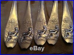 RARISSIME cuillères en argent massif Art Nouveau-CHARLES CHRISTOFLE et O. ROTY
