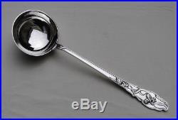 RAVINET IRIS LOUCHE A POTAGE ARGENT MASSIF ART NOUVEAU Sterling Silver Soup Ladl