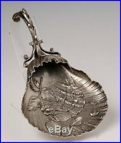 Ramasse Miettes Art Nouveau Argent 92 Grammes Minerve Feuillage Fin 19eme Z193