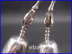 Rare Clochette De Table Double En Argent Massif Argent 925 Milliemes Art Nouveau