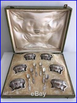 Rare Coffret Salière Argent Minerve Art Nouveau Gustave Veyrat Sterling