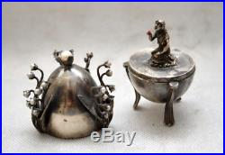 Rare! Oeuf Argent de l'Empire Russe Art Nouveau Silver Egg of Russian Empire