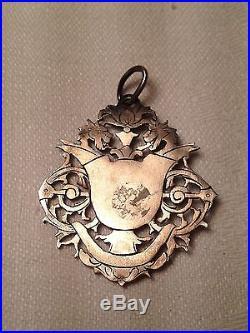 Rare! Pendentif En Argent Art Nouveau Decor Dragons