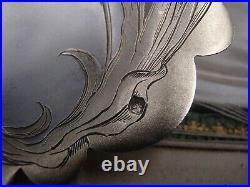 Rare Service A Fraises Art Nouveau 2 Pieces En Argent Et Vermeil Minerve Coffret