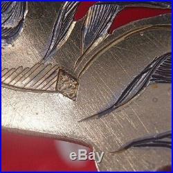 Rare Service A Glace Et A Sucre Art Nouveau Decor Iris Argent Vermeil Minerve