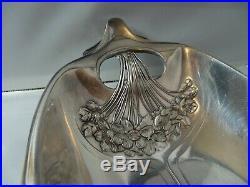Rare corbeille ancienne ART NOUVEAU métal argenté GALLIA