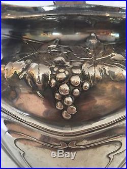SEAU A CHAMPAGNE ART NOUVEAU EN ETAIN ARGENTÉ circa 1880