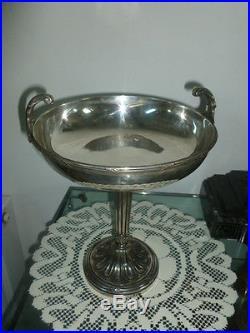 Superbe Coupe Sur Pied Art Nouveau Bronze Argente Victor Saglier
