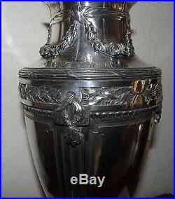 Superbe Grand Vase Gallia Christofle Art Nouveau Silver Metal Argente