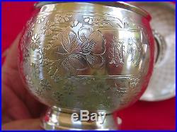 Superbe & Rare Tasse & Sous-tasse Style Art Nouveau En Argent Massif, Minerve 1
