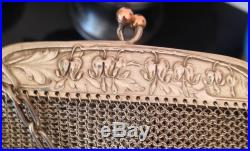 Sac Bourse Argent Massif poinçon sanglier XIXéme maille Art nouveau 175.4g