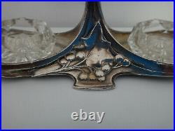 Saliere Poivriere Femme Art Nouveau 1900 Metal Argente Wmf
