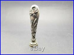 Sceau cachet Bronze argentée Art Nouveau décor d'une libellule 1900
