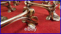 Série 12 porte couteaux métal argenté Christofle Gallia modèle Pavot Anémones