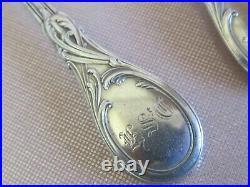 Série de 6 petites cuillères argent massif poinçon minerve Art Nouveau 156 grs