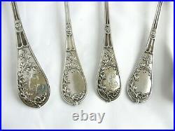 Service A Dessert Argent Massif Vermeil Art Nouveau Jugendstil Sterling Silver