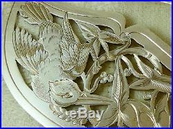 Service A Poisson Art Nouveau Oiseau & Poisson Argent Massif Minerve Gabert 1882